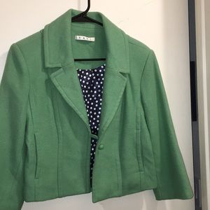 CAbi wool one button coat in mint color